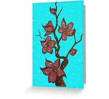 Blossoming Flower Tree Greeting Card