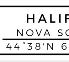Halifax Sticker