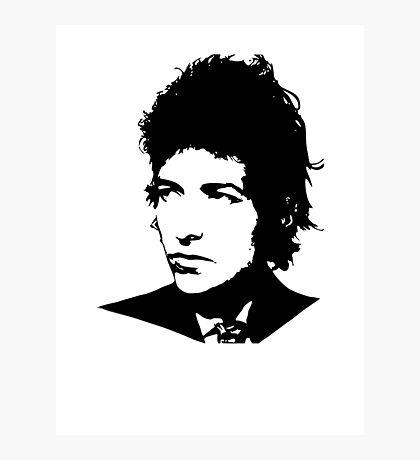 Bob Dylan - Stylized White Ver. Photographic Print