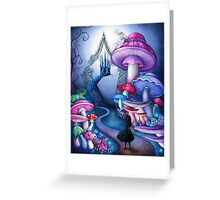 Alice Gates to Wonderland Greeting Card