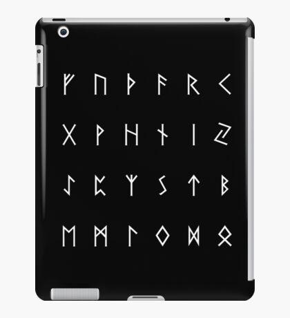 Elder Futhark - plain white iPad Case/Skin