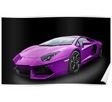 Purple Aventador Poster