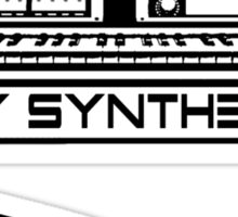 I Play Synthesizer Sticker