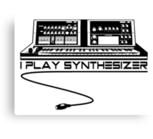 I Play Synthesizer Canvas Print