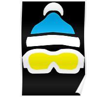 Ski Goggles & Bobble Hat  Poster