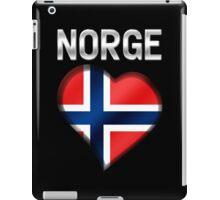 Norge - Norwegian Flag Heart & Text - Metallic iPad Case/Skin