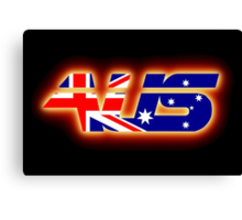 AUS - Australia Flag Logo - Glowing Canvas Print