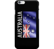 Australia - Australian Flag & Text - Metallic iPhone Case/Skin
