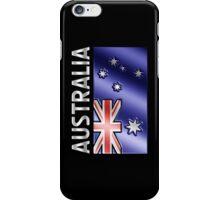 Australia - Australian Flag & Text - Metallic iPhone Case/Skin