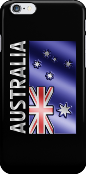 Australia - Australian Flag & Text - Metallic by graphix
