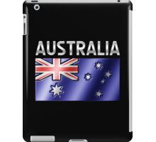 Australia - Australian Flag & Text - Metallic iPad Case/Skin