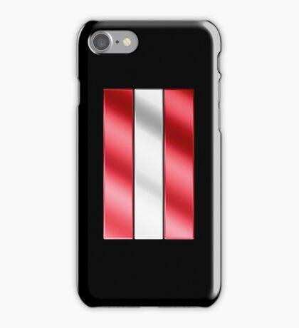Austrian Flag - Austria - Metallic iPhone Case/Skin