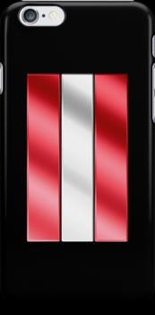 Austrian Flag - Austria - Metallic by graphix
