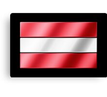 Austrian Flag - Austria - Metallic Canvas Print