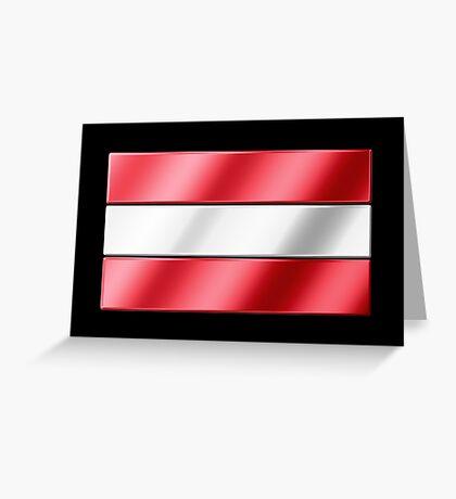 Austrian Flag - Austria - Metallic Greeting Card