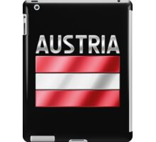 Austria - Austrian Flag & Text - Metallic iPad Case/Skin