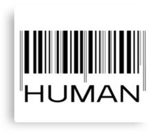 HUMAN BARCODE Canvas Print