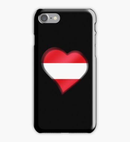 Austrian Flag - Austria - Heart iPhone Case/Skin