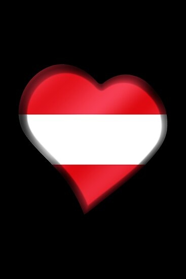 Austrian Flag - Austria - Heart by graphix