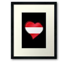 Austrian Flag - Austria - Heart Framed Print