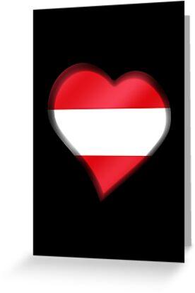 Austrian Flag - Austria - Heart by graphix