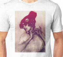 Girl tied the hat Unisex T-Shirt