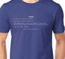 Blue Screen of Death (BSOD) Unisex T-Shirt