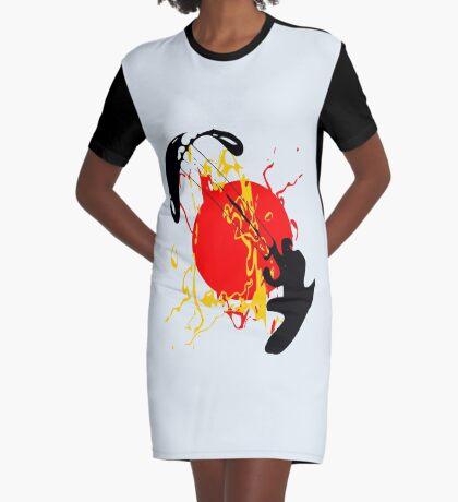 Kite Surfing Graphic T-Shirt Dress