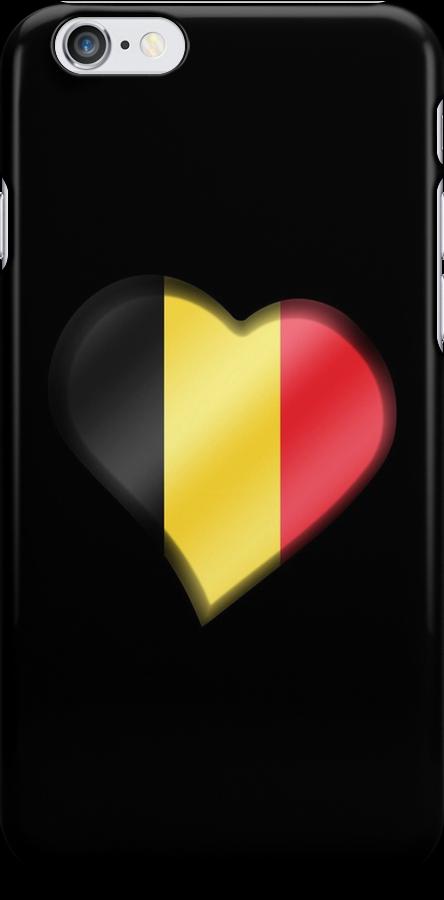 Belgian Flag - Belgium - Heart by graphix
