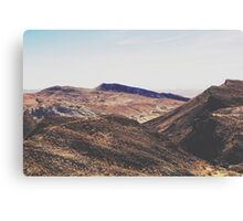desert and mountain with blue sky in summer Canvas Print