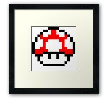 PIXEL - Super mushroom symmetric Framed Print