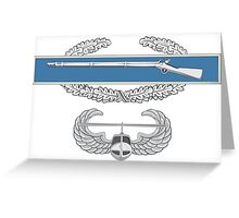 Combat Infantry Badge and Air Assault Greeting Card