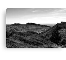 desert and mountain in black and white Canvas Print