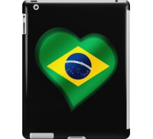 Brazilian Flag - Brazil - Heart iPad Case/Skin