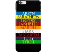Houses of Westeros iPhone Case/Skin