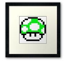 PIXEL - 1UP mushroom Framed Print