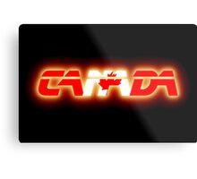 Canada - Flag Logo - Glowing Metal Print