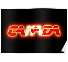 Canada - Flag Logo - Glowing Poster