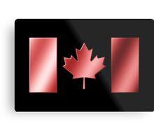 Canadian Flag - Canada - Metallic Metal Print