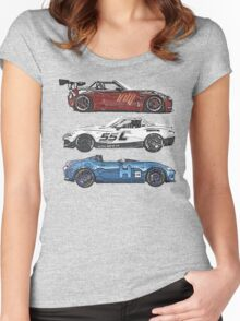 Miata Club of Hawaii MCH ND Stack Women's Fitted Scoop T-Shirt