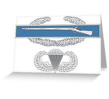 Combat Infantry Badge and Airborne Greeting Card