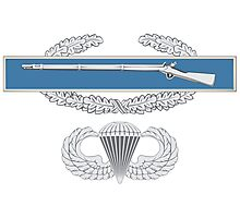 Combat Infantry Badge and Airborne Photographic Print