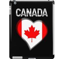Canada - Canadian Flag Heart & Text - Metallic iPad Case/Skin