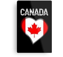 Canada - Canadian Flag Heart & Text - Metallic Metal Print