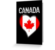 Canada - Canadian Flag Heart & Text - Metallic Greeting Card