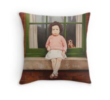 Sore Finger Throw Pillow