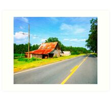 Country Roads In The American South - Georgia Landscape Art Print