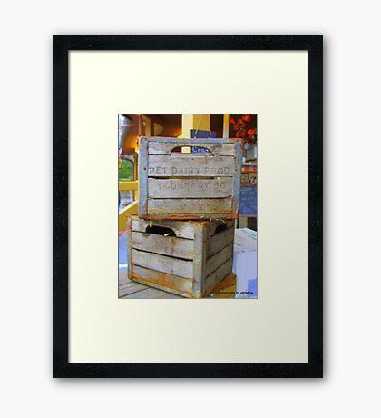 Lets Crate Framed Print