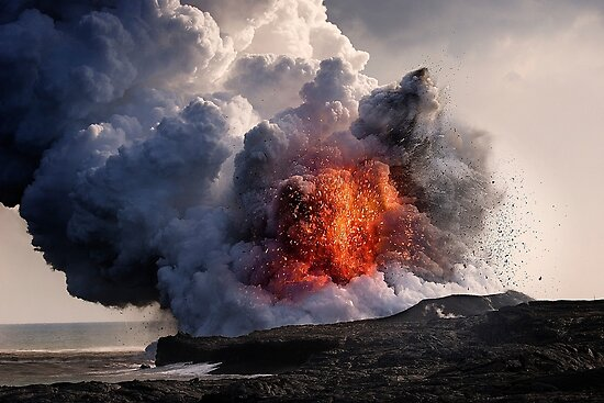 Kilauea Volcano at Kalapana 8 by Alex Preiss