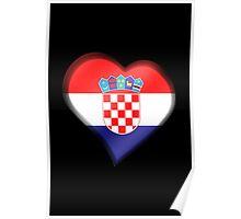 Croatian Flag - Croatia - Heart Poster